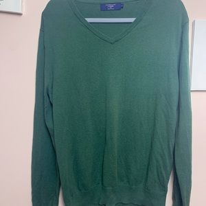 J. Crew Cotton with Cashmere Sweater - Green